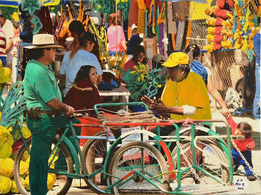 El Mercado - Tonala - Mexico 2012 - Pintado 2013