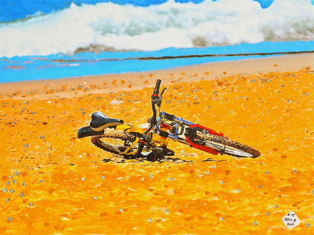 La bicicleta - Puerto Vallarta - Mexico 2012 - Pintado 2013