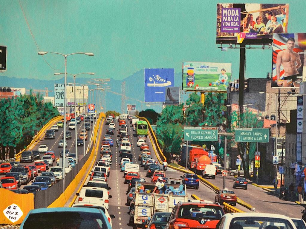 No 16 - El Trafico - Districto Federal - Mexico 2012 - Pintado 2013