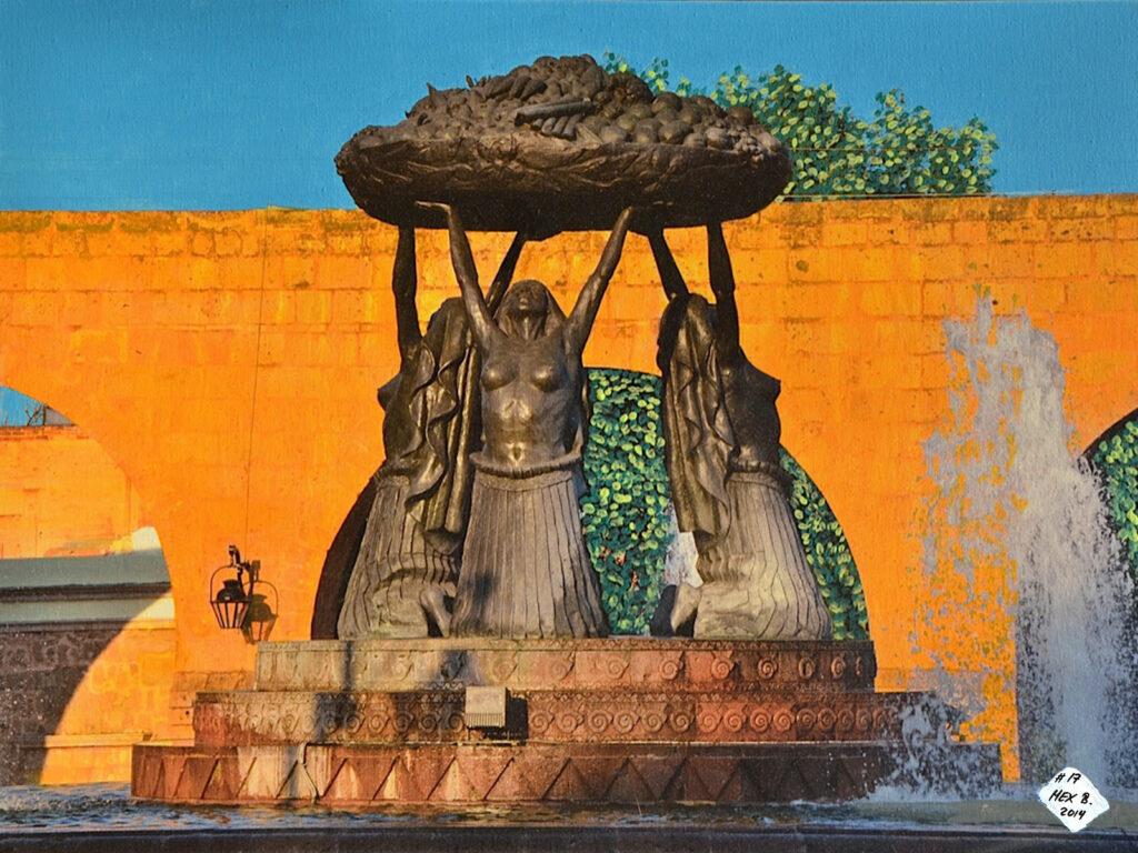 La Fuente de las Tarascas - Morelia - Mexico 2012 - Pintado 2014