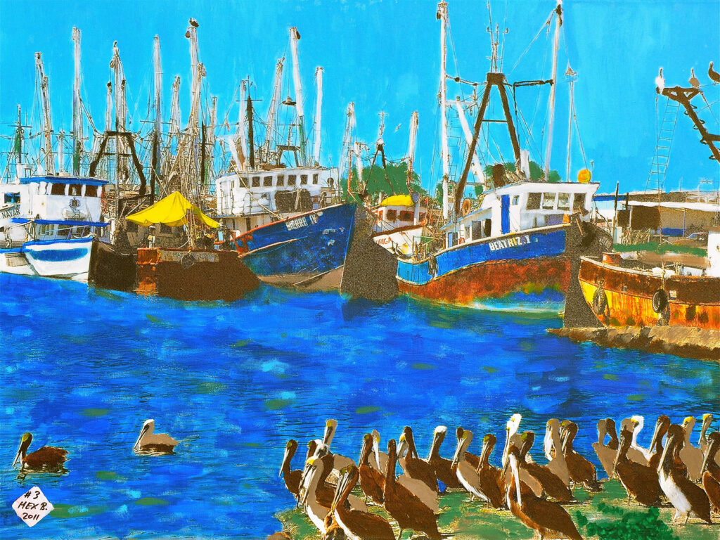 El Muelle de San Blas - Mexico 2005 - Pintado 2011