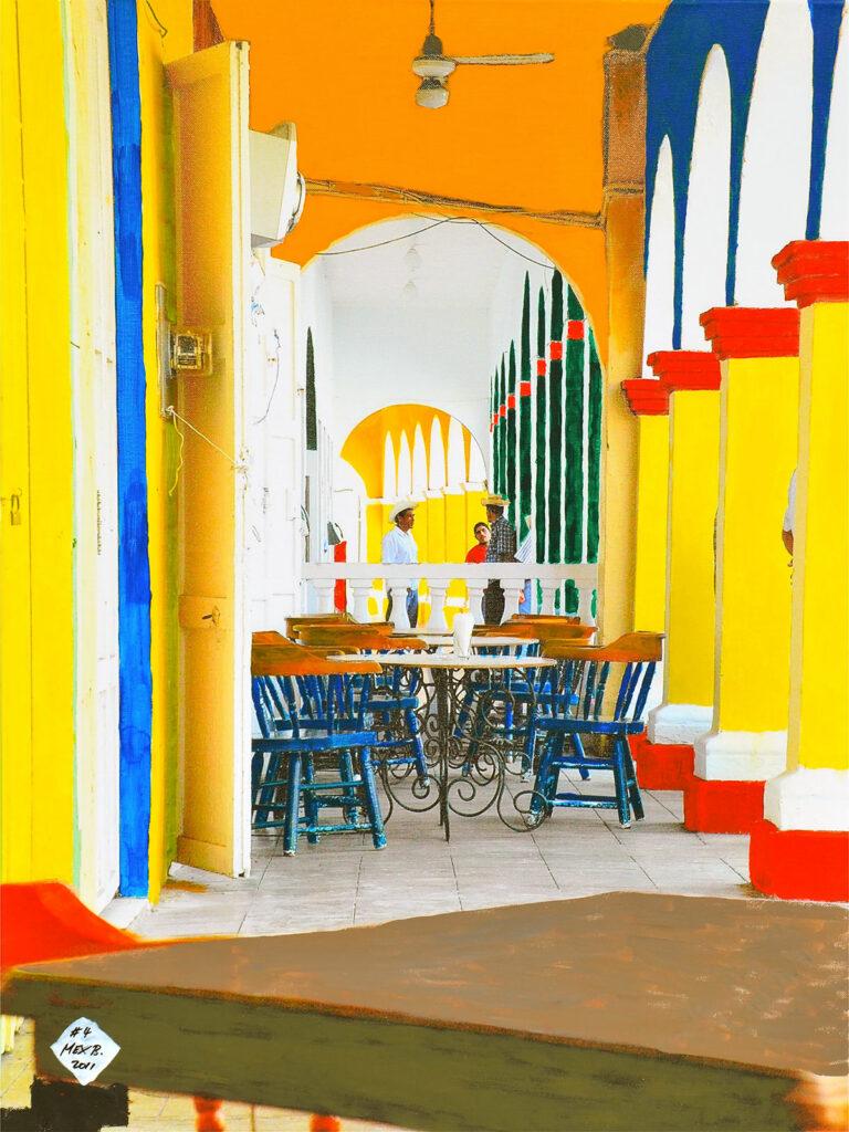 El Patio - Tlacotalpan - Mexico 2004 - Pintado 2011